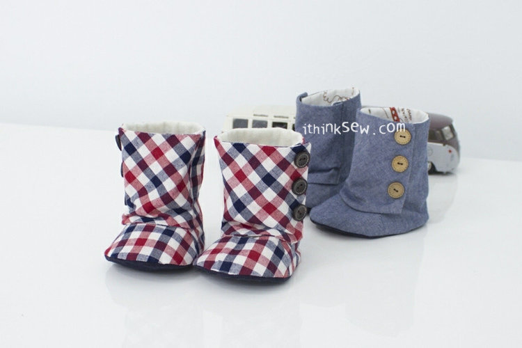 Picture of Baby 3 Button Boots PDF Pattern Sz 2-7