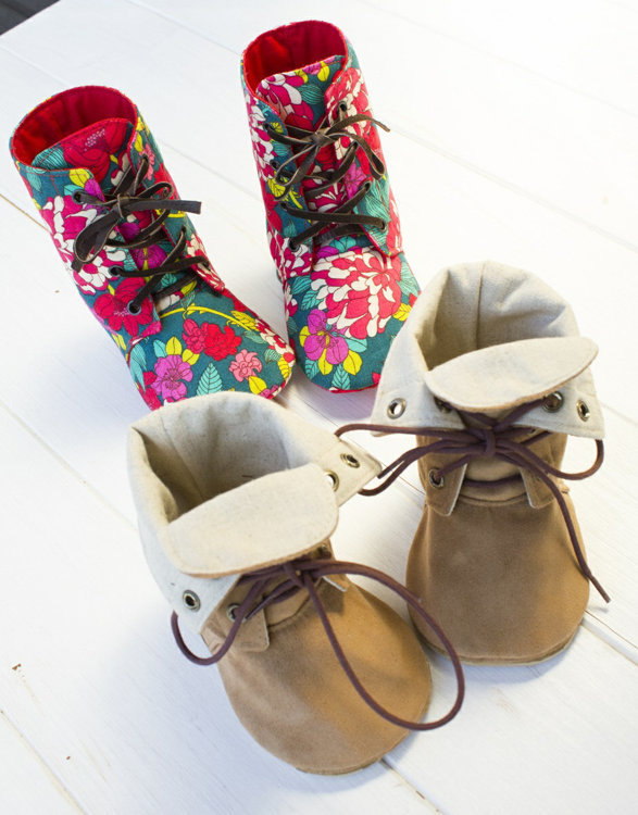 Picture of Adler Baby Combat Boots PDF Pattern