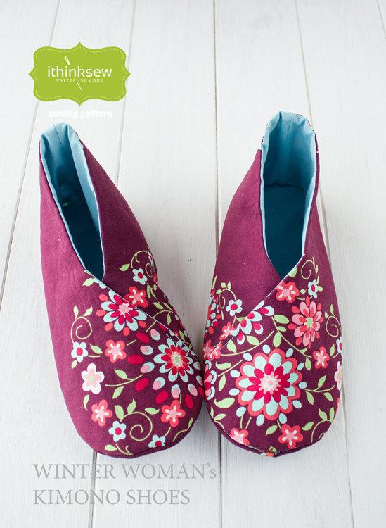 Picture of Winter Women's Kimono Shoes Paper Pattern
