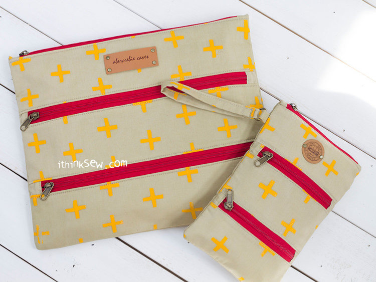 Picture of Stacey Triple Zipper Layered Pouches PDF Pattern