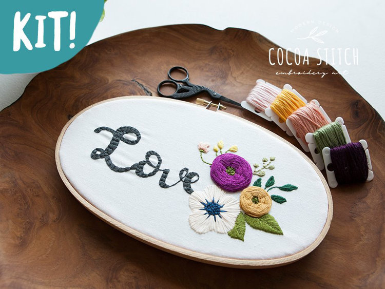 """Picture of 5""""X 9"""" Oval Shape Love Embroidery Kit"""