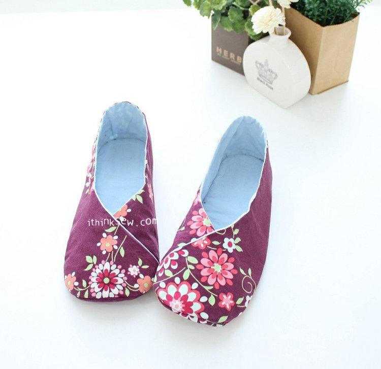 Picture of Woman's Kimono Shoes PDF Pattern