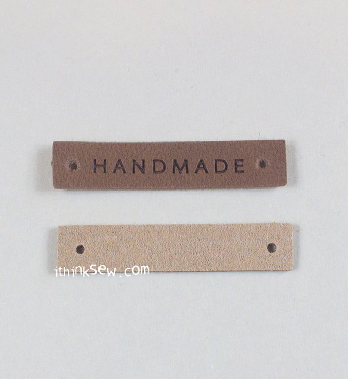 Picture of PU Leather Tag with Holes - Brown