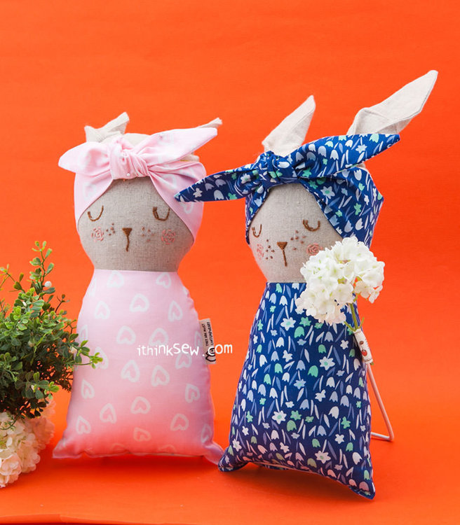 Picture of Bunny Baby Doll PDF Pattern