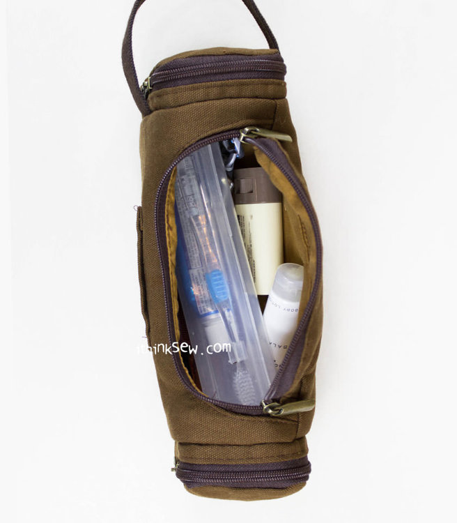 Picture of Floyd Travel Bag & Gordan Travel Pouch PDF Pattern Combo - 15% Off