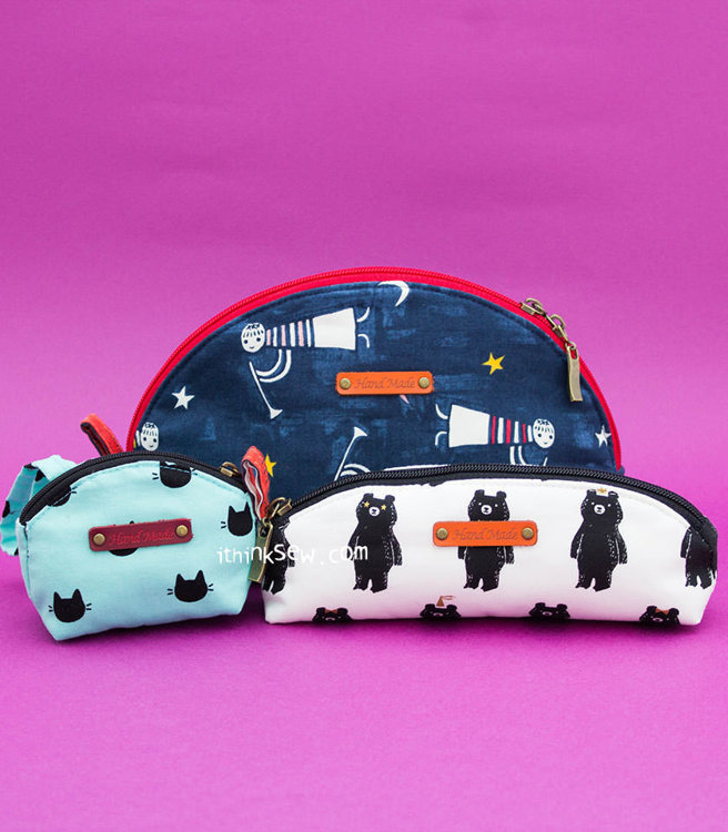 Picture of Eula Pouch, Pencil Case and Coin Purse (3 Styles) PDF Patterns