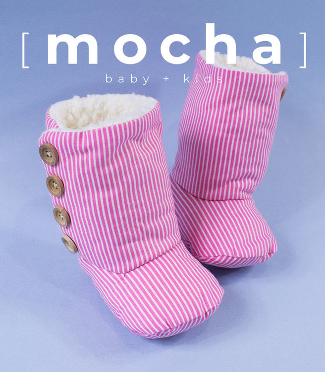 Picture of (3M-18M) Isaac Baby Boots PDF Pattern