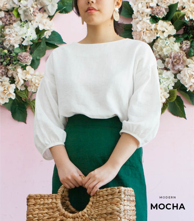 Picture of MOCHA Puff Sleeve Blouse Paper Pattern