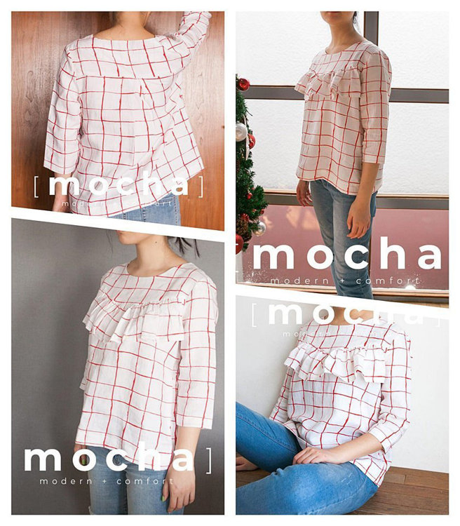 Picture of MOCHA Cara Blouse  Paper Pattern