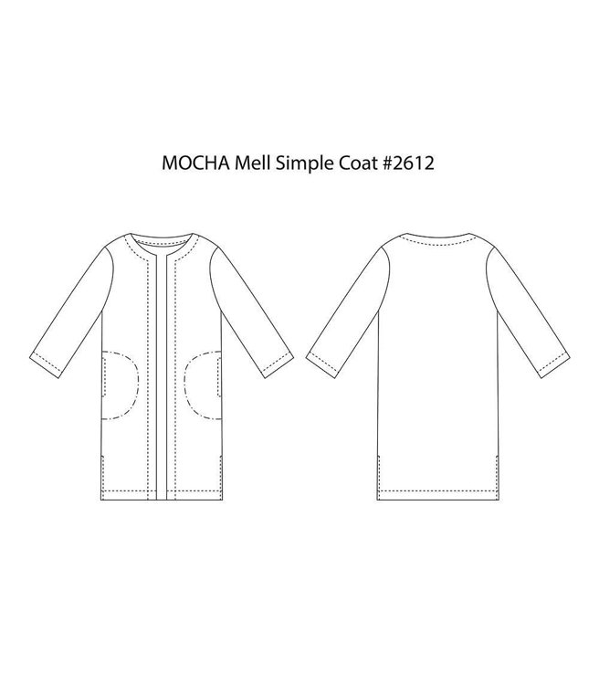 Picture of MOCHA Mell Simple Coat Paper Pattern