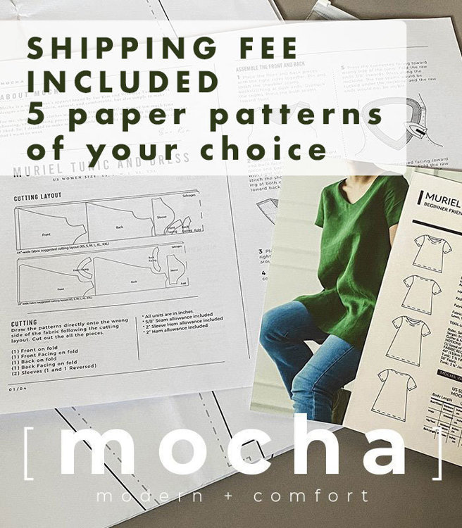 Picture of 5 MOCHA Paper Patterns - Choose your Favorite 5 Paper Patterns