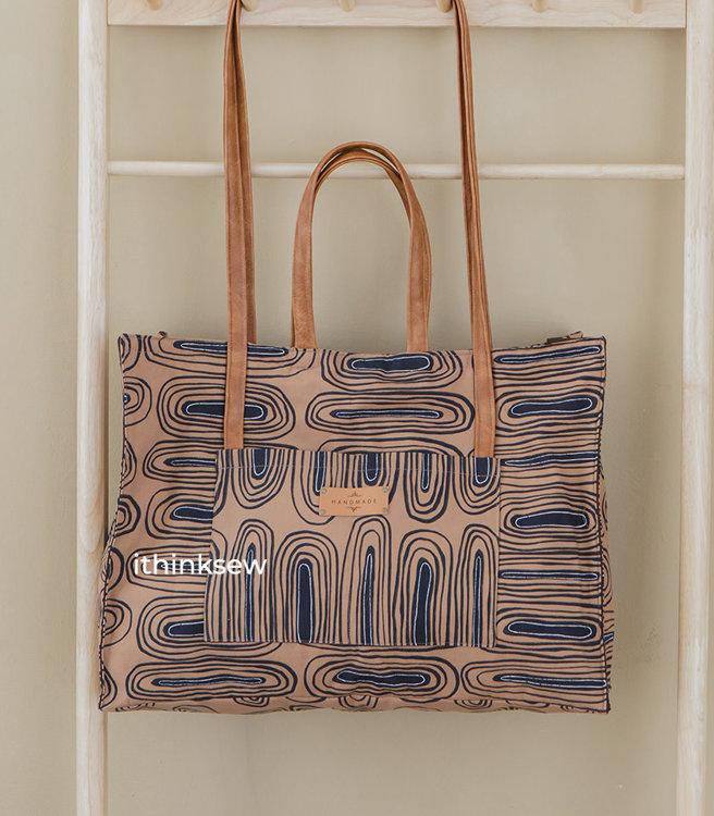 Alfie Four Straps Travel Tote Bag PDF Pattern