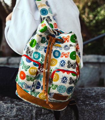 image for Loren Bucket Backpack PDF Pattern (#1258) - Subscribers Only