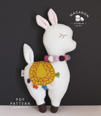 image for Llama Plush Dolls PDF Pattern (#2728) - Subscribers Only