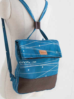 image for Cali Foldover Backpack PDF Pattern (#1192) - Subscribers Only